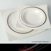 Royal Bone China by Royal Porcelain: 110 pcs. Dinner set CONRAD BRIGHT PLATINUM