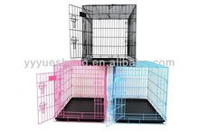 "36"" portable two doors folding dog pet crate cage kennel"