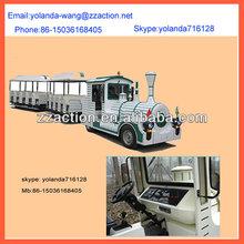 Action model outdoor children amusement park trains,electric trackless train