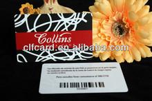 Hot sell fashion pvc barcode card