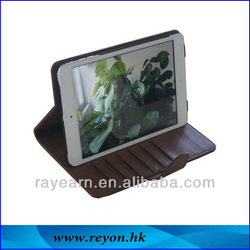 hot selling PC+PU rotating wallet leather case for ipad mini case with stand for tablet PC case