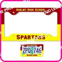 high quality usa car license plate frame made of plastic