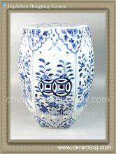 RYNQ48 Oriental blue and white porcelain garden stool