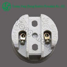 Small light socket copper screw shell ceramic base E27