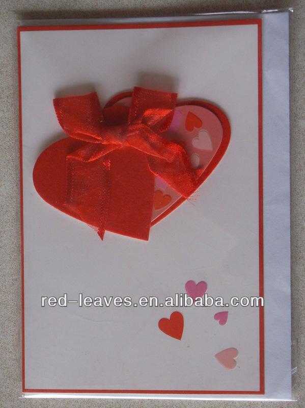 Handmade Cards Hearts Heart Shape Greeting Card