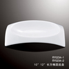 2014 hot sale hotel white rectangular deep nice crockery, porcelain dinner plates, wholesale dinner plates