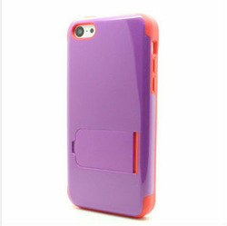Twin Color Cover Case For iPhone 5 5s,Stand Case For iPhone 5 Moblie Phone