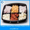 No- tóxico reciclables alimentos bandeja de plástico de embalaje