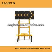 solar led traffic arrow board trailer