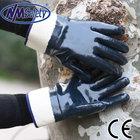 NMSAFETY high quality blue nitrile heavy duty gloves Canvas cuff work gloves bulk