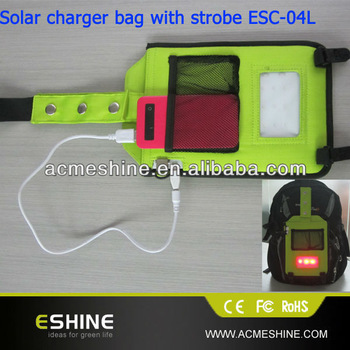 3w Solar Charger Bag with led light