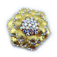Fashion Flower Crystal Brooch ,Wedding Brooch Jewelry,Camellia Brooch