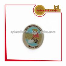 Metal lapel badges