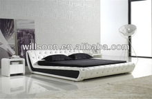 Decorative Modern Button King Size PU Leather Hotel Bed WSB855