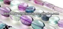 Natural Flourite Free Form Smooth Gems Jaipur Beads