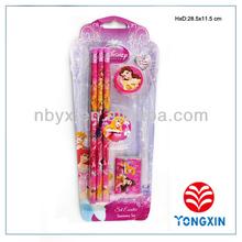 back to school stationery set for kids pencil eraser set