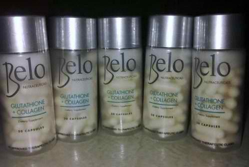 Belo Nutraceuticals Glutathione Collagen Skin Whitening Pills ...