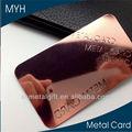 de diseño moderno de la superficie brillante de oro rosa de metal de tarjetas de visita