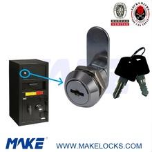 zinc alloy flat key depository safe cam lock