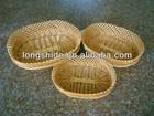 wholesales handmade weave environmentally friendly oval wicker fruit basket