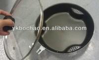 Aluminum non stick dry cooking pan frying pan with air circulation