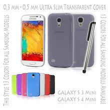 Hard Case Cover Ultra Thin Slim 0,3 mm Transparent Matte for Samsung Galaxy S3 S 3 III Mini i8190 | S4 S 4 IV Mini i9190 Gray