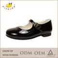 Negro& estudiante blanco calzado hebilla de correa de niños cómoda de cuero zapatos de la escuela