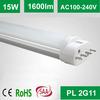 2014 new design 2g11 pl led tube light 15W
