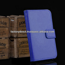 New Leather Flip Case Cover Pouch Bumper Wallet for iPhone 5 5S 5C 5G Dark Blue Best Quality