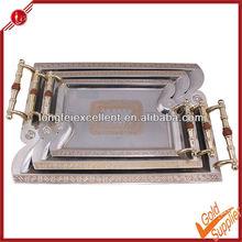 3pcs serving tray & food dish&plate mirror serving tray custom printed serving tray