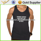 Cheap customized black men printing tanks top
