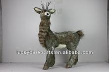 2014 newest production Christmas standing deer/giant reindeer ornaments/winter deer deco