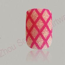Bling bling shining nails cute pink arts