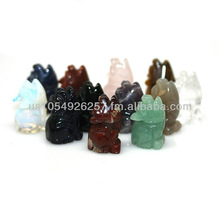 1 Inch Coyote/Wolf Gemstone Figurine Carving Assorted Semi Precious Stones