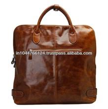 Ladies Leather Travel Bag / latest travel time bag / new arrival men leather travel bag