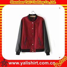 Hot selling fashion cusomize good quaity leather sleeve jacket for men
