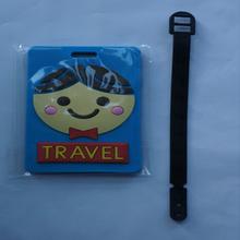 Custom travel accessories pvc luggage tag/beautiful girl luggage tags
