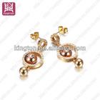 metal beaded gold jhumka earrings jewelry design with price