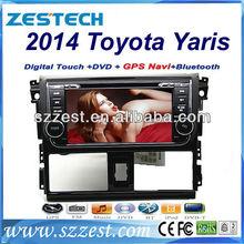 ZESTECH Double din car dvd player for 2014 Toyota YARIS dvd Player with DVD GPS Navigation arabian,Portugal,russian osd menu