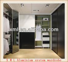 modern fashion design aluminum pole walk-in display closets