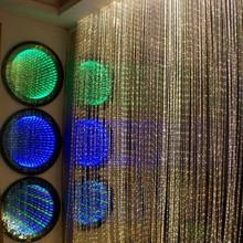 2014 new fiber optic waterfall light curtain