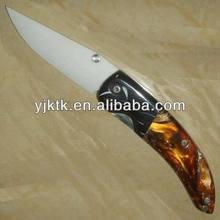 """3"""" ceramic resin 2 color handle folding pocket knife"""
