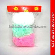 3pcs bath sponges set/3pcs bath net sponge ball set/3pcs mesh bath sponge set