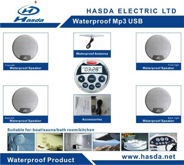 Salle de bain tanche lecteur mp3 avec radio pour sauna for Radio etanche pour salle de bain