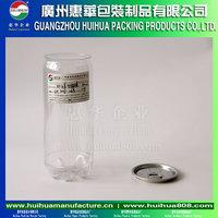 transparent soda can PET plastic beverage bottles for distilled water