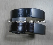 Custom Men Leather ID Bracelets with Clasp
