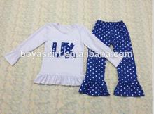 2015New Summer Toddler Baby Clothes Sets Baby Girl Clothing Sets Baby Short Sleeve Polka Dots dress Capris Pant Matching Outfits