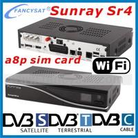 Sunray sr4 a8p triple tuner wifi sunray4 hd se satellite receiver sunray 4 a8p