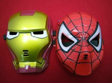 Halloween Plastic Superhero Kids LED Party Mask
