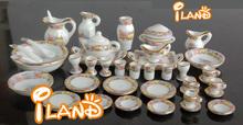 Doll house educational toys Miniature Ceramic Tea Sets 40 pcs Hot DC043